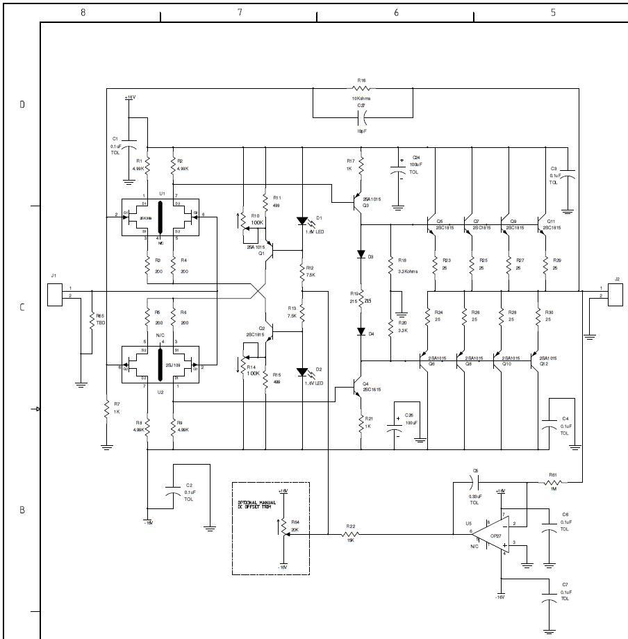 Headphone amp, schematic